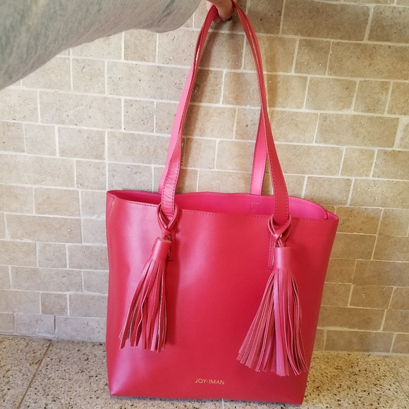 NWOT Leather Tote/Wristlet